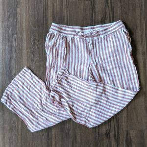 Old Navy Red and White Striped Pants